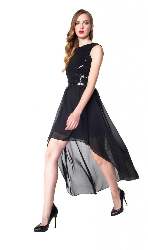 studniowka-2014-czarna sukienka z szyfonowym dołem 3-003